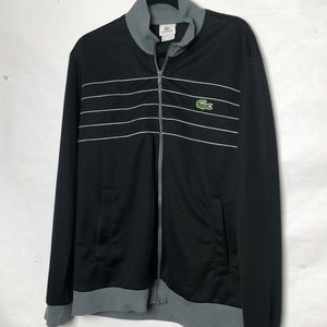 Lacoste men's zip front track jacket